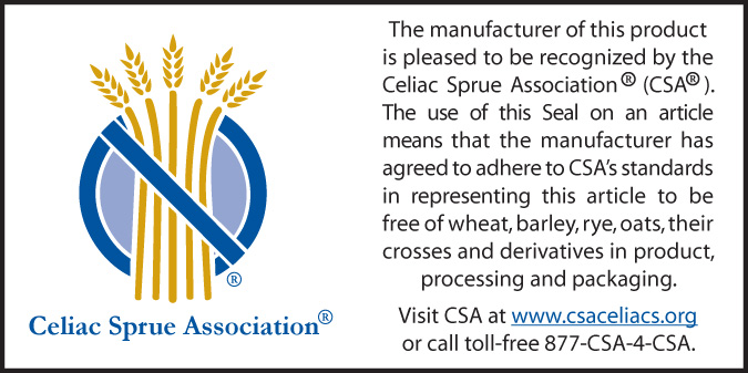 Celiac Sprue Association Certified